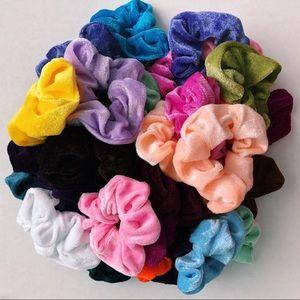 Accessories - Bundle of 5 RANDOM velvet scrunchies! VSCO